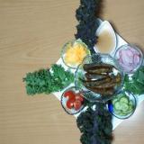 メヒカリと野菜の、サラダ