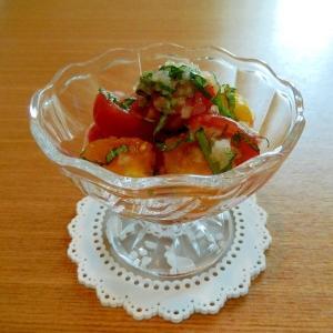 バジルの香り~ミニトマトのサラダ☆