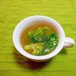 大根とブリッコリーのコンソメスープ