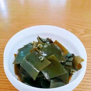 出汁昆布(再利用)と山椒の佃煮