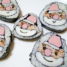 サンタの巻き寿司