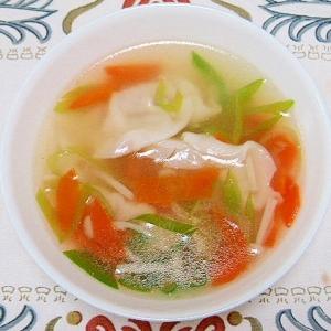 初心者でも簡単にできる★野菜スープ餃子★
