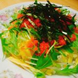 とびっこと水菜のちらし寿司