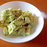 アボカド・もち麦・炒り卵のサラダ