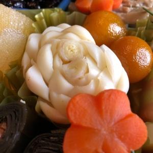 百合根の飾り切り〜菊〜