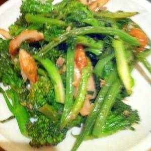 青菜と豆のナンプラー炒め