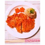 豪華に見えるひな祭りレシピ♪鶏胸肉のステーキ唐揚げ