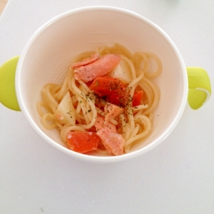 鮭とお野菜のクリームパスタ☆離乳食