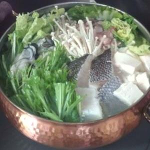 かき・つぼ鯛・ぶた鍋