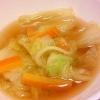 白菜と人参の中華スープ