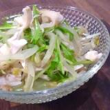 ささみともやしと水菜サラダ