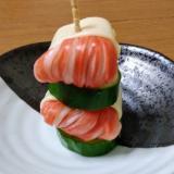 お弁当に☆簡単☆カニカマときゅうりの飾り串