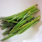 パセリの茎をバター醤油で美味しく