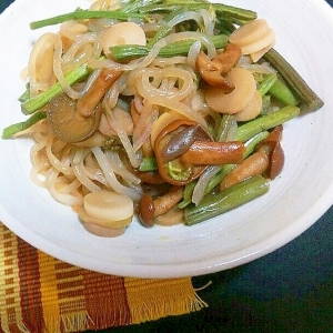 白滝と山菜の中華炒め