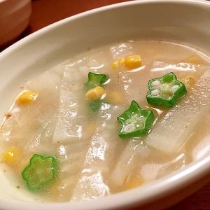 胃腸に優しい!大根とオクラのスープ