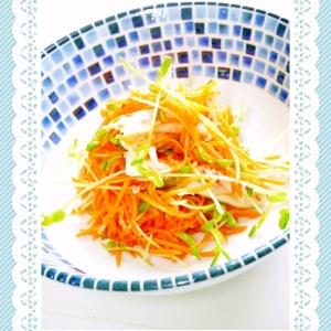 朝!人参と蒲鉾のヘルシーサラダ