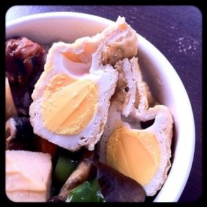 お弁当にも。卵と油揚げの袋煮