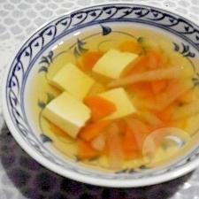 野菜と豆腐のすまし汁