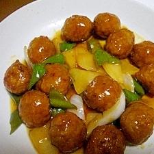 肉団子の甘酢野菜あんかけ