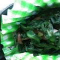簡単な和え物☆ 「春菊とシメジ胡麻和え」