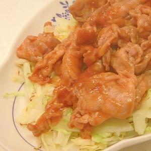 豚肉のジンジャーケチャップ炒め