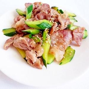 豚肉ときゅうり炒め