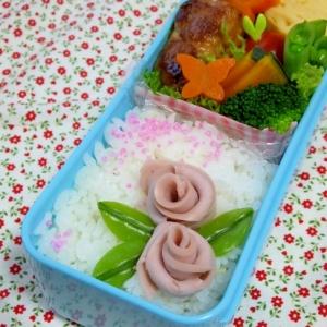 簡単キャラ弁☆魚ニソDEバラのお弁当♪