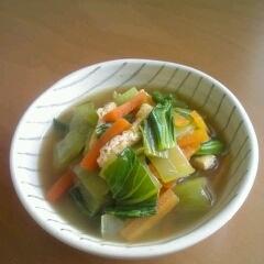 チンゲン菜と薄あげのさっと煮