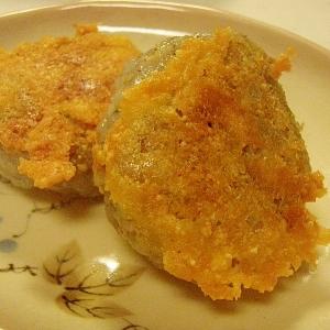 もちもちカリカリ★ごま入り蓮根餅ONチーズ