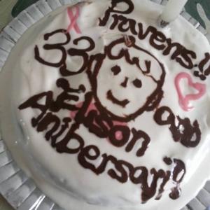 スポンジケーキミックスで簡単★お誕生日ケーキ
