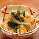 簡単副菜!卵と玉ねぎ、ワカメの和え物
