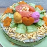 ひなまつり ちらし寿司ケーキ