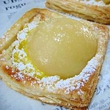 桃のカスタードパイ。