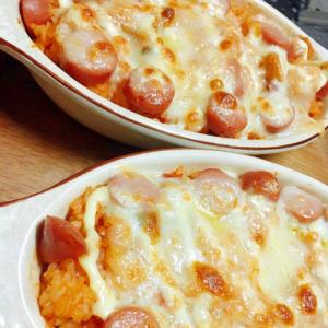 残ったトマトソースでリメイク★トマトチーズドリア