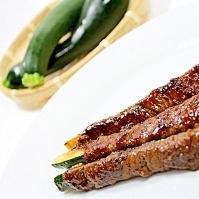 ズッキーニの肉巻きスティック★旬野菜+お肉で元気!