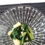 あご出汁で小松菜のお浸し