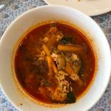 牛肉と卵のピリ辛スープ