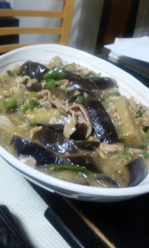 ヘルシー♪ ナスと豚肉の中華風味噌煮