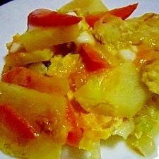 卵でトロッと野菜炒め煮