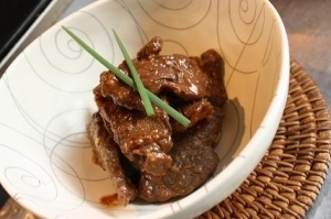 馬肉の甘味噌焼き