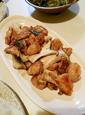 プルプル!鶏ササミとエリンギのバター醤油炒め