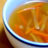 ヤーコンのエスニック風スープ