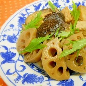 蓮根、厚揚げ、椎茸の含め煮