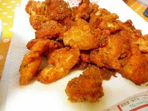 ピリ辛スパイシーから揚げ 味付鶏肉使用