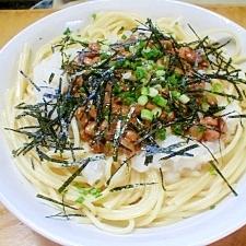 1人分 納豆と大根おろしのスパゲティ