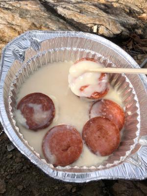 キャンプ飯!簡単チーズフォンデュ