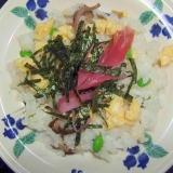 椎茸とレンコンのちらし寿司
