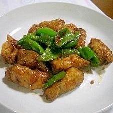 ナスの豚巻きニンニク梅醤油味