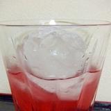 ルビーの涙*ジン&ワイン&シソジュースのカクテル