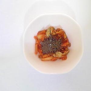 納豆と福神漬けのキムチ和え 11